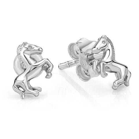 Sterling Silver Horse Stud Earrings