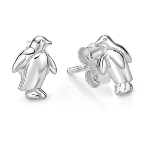 Sterling Silver Penquin Stud Earrings