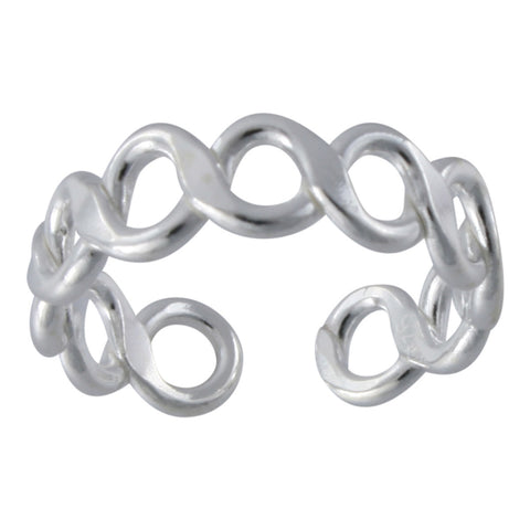 Sterling Silver Infinity DesignToe Ring