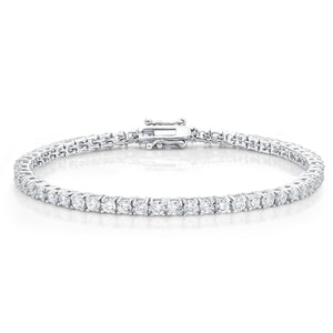 Sterling Silver Cubic Zirconia Claw Set Tennis Bracelet