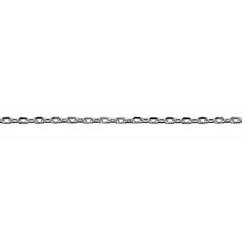 9ct White Gold Cable Link Chain - Kiboo.com.au
