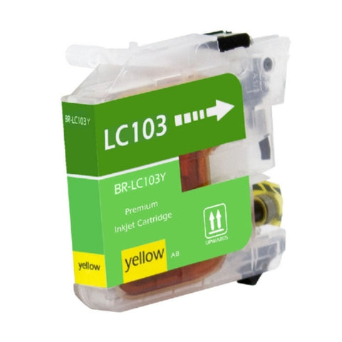 Brother LC103Y, LC101Y High Yield Yellow Inkjet Cartridge - Blue Fox Group