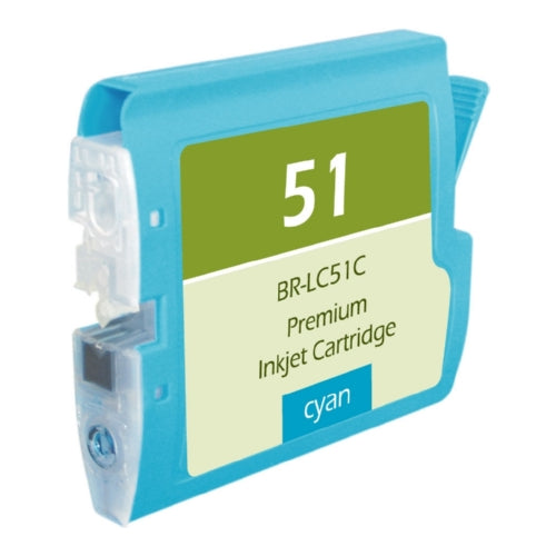 Brother LC51C Cyan Inkjet Cartridge - Blue Fox Group