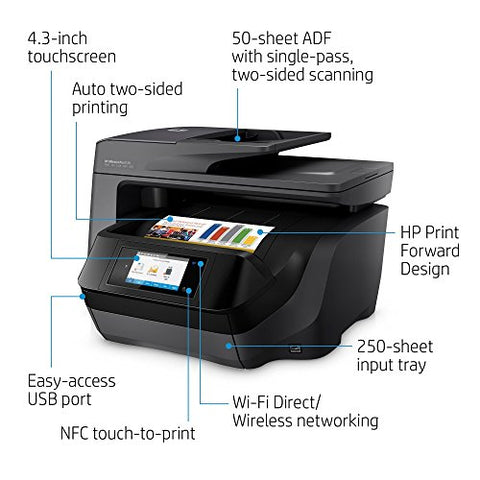 HP OfficeJet Pro 8720 All-in-One Wireless Printer with Mobile Printing, HP Instant Ink & Amazon Dash Replenishment Ready - Black (M9L74A)