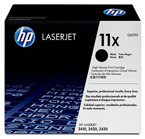 HP 11X (Q6511X) Black High Yield Original Toner Cartridge for HP LaserJet 2420 2430
