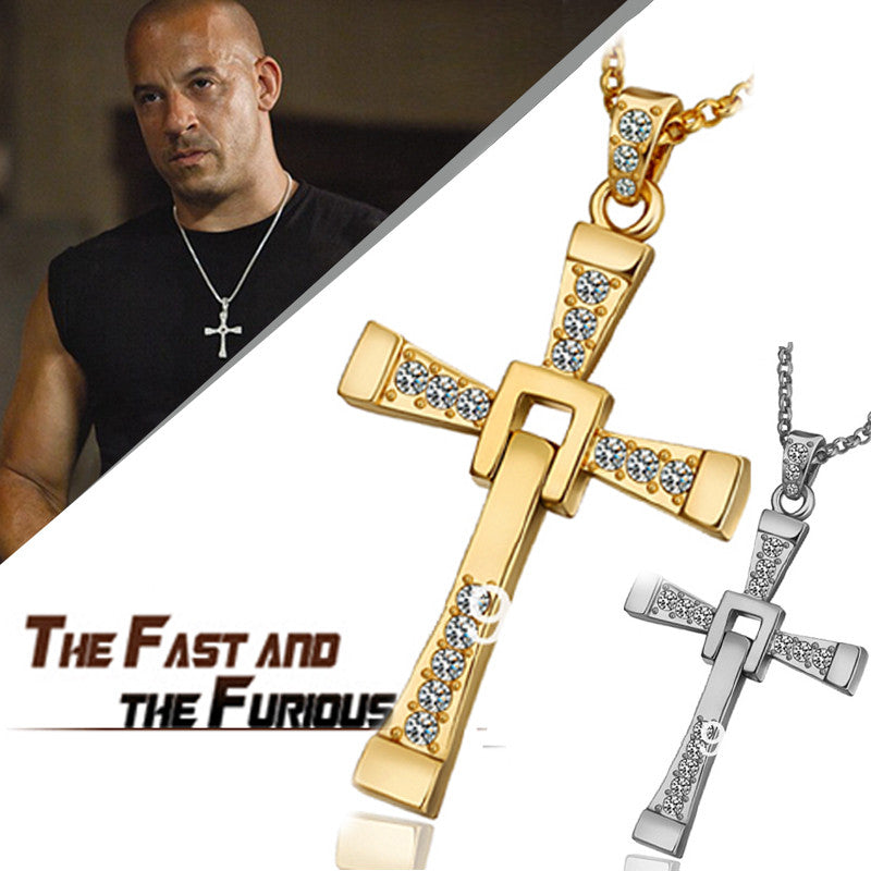 Popular The Fast and the Furious Vin Diesel Jesus Cross Necklaces