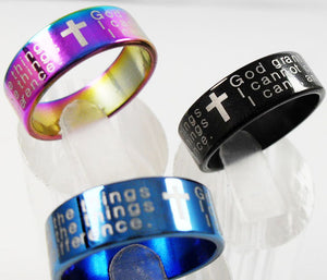 English SERENITY PRAYER Stainless steel Ring