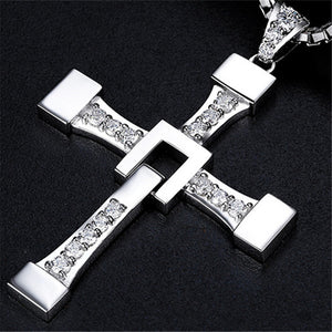 Dominic Toretto Fast and Furious Titanium Cross Necklace for Men