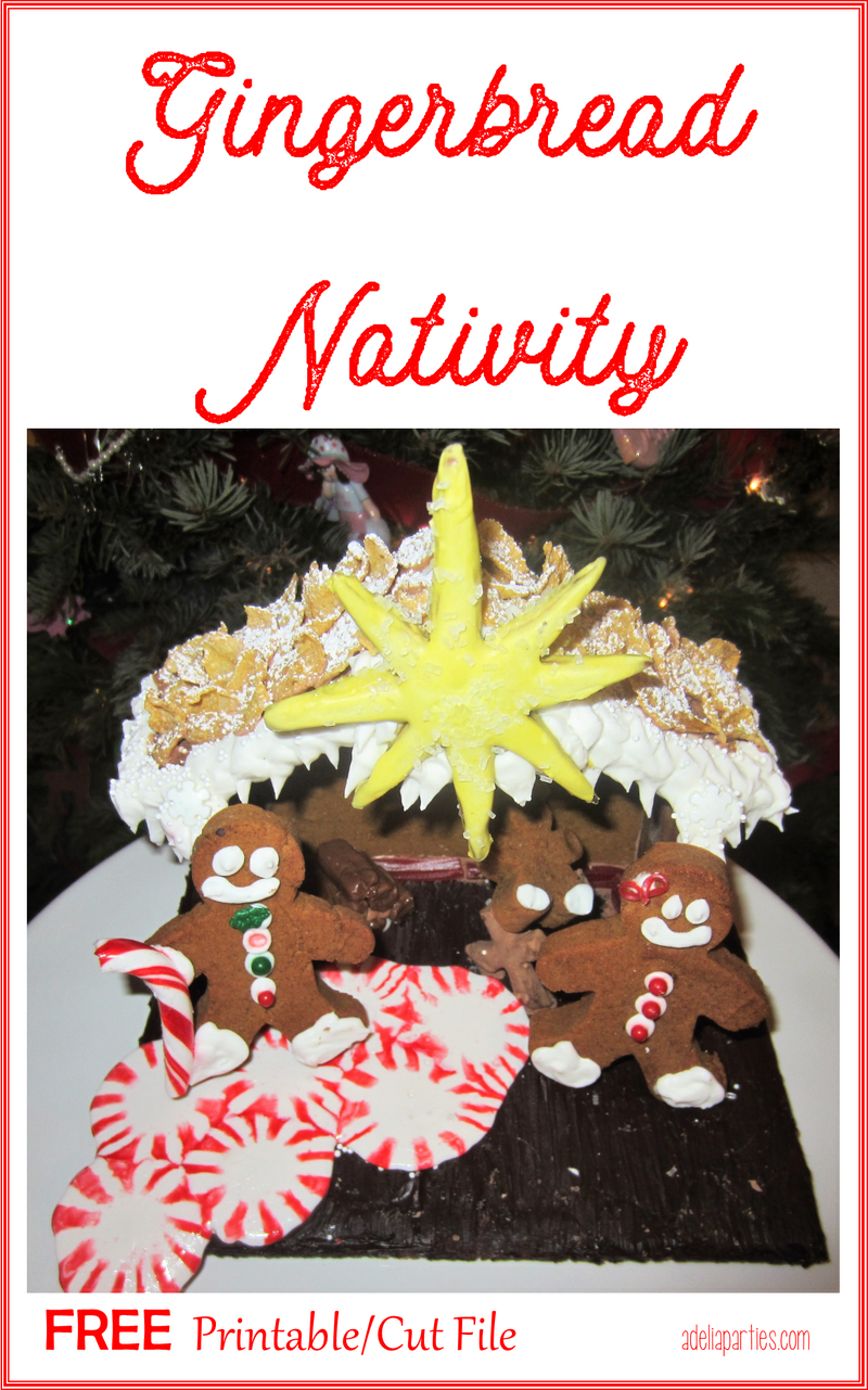 Christmas Gingerbread Nativity