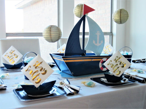Nautical Sailor party in a box, sailor party in a box, nautical baby shower, nautical bridal shower