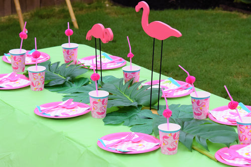 flamingo party kit, tropical party kit, pink flamingo party kit, girls party kit