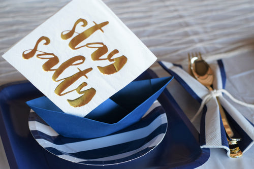 Nautical Sailor partyscape, sailor place settings, sailor table setting
