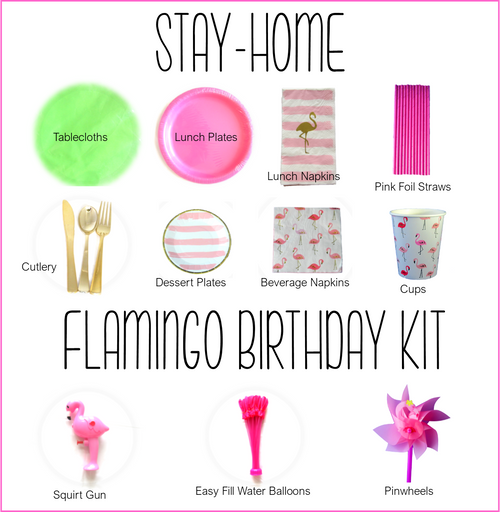 Momma Flamingo Birthday Kit