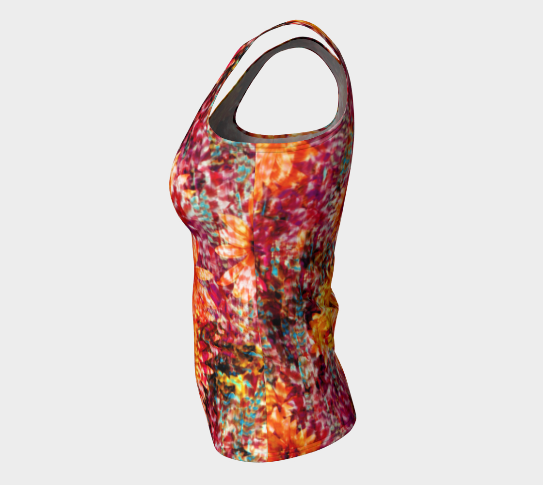 Ambient Floral Fitted Tank Top/Long Length Fitted Tank Top (Long)  Roxie Rudolph Roxie Rudolph Roxie Rudolph