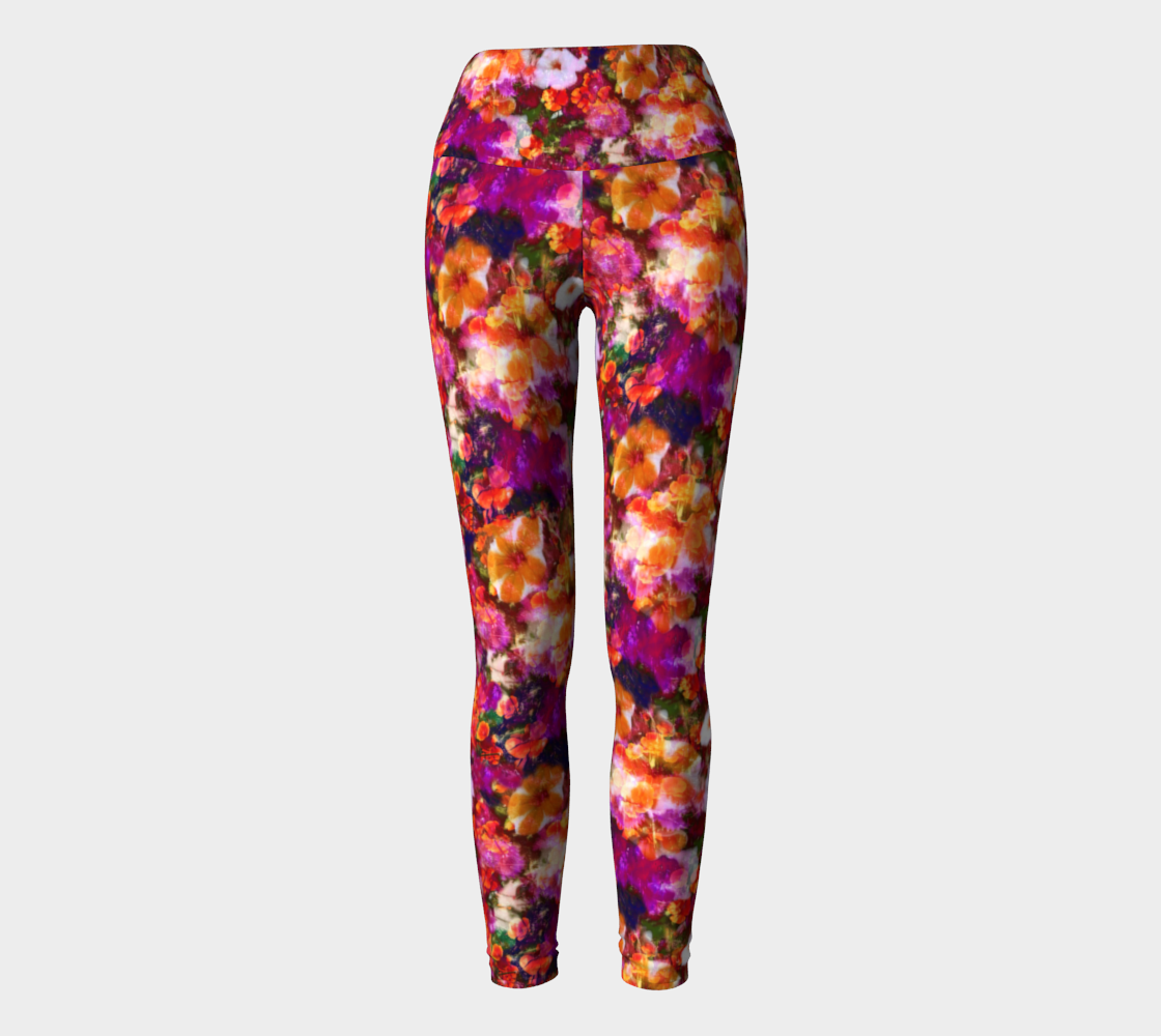 Illuminated Floral Yoga Leggings Yoga Leggings  Roxie Rudolph Roxie Rudolph Roxie Rudolph