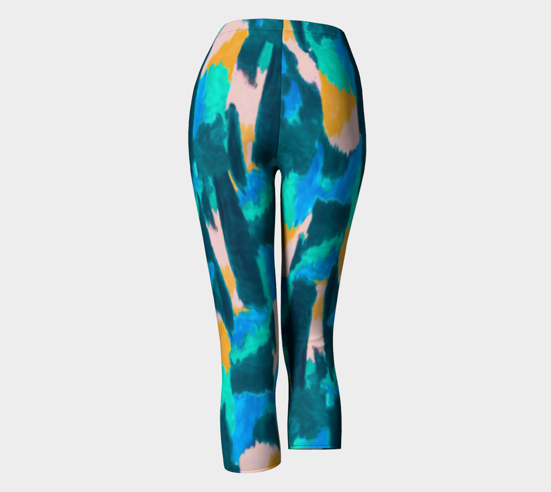 Watercolor Abstract Capris