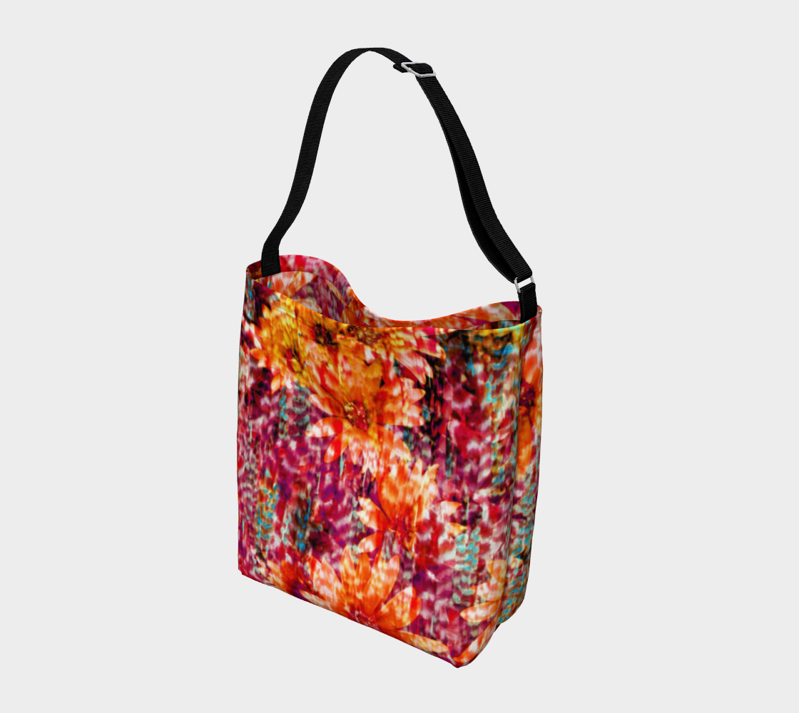 Ambient Floral Stretchy Tote Day Tote  Roxie Rudolph Roxie Rudolph Roxie Rudolph