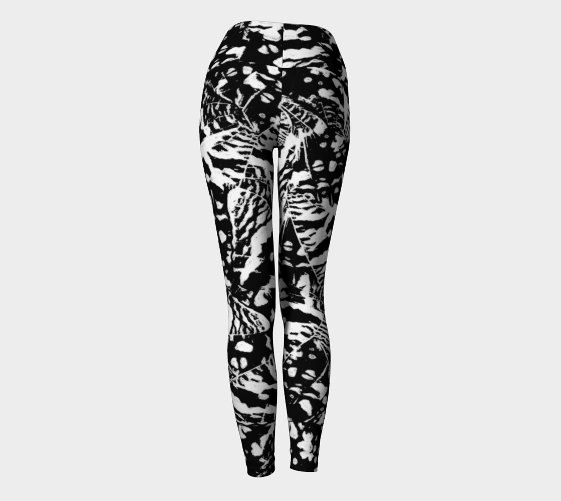 Ink Blot Butterfly Yoga Leggings Yoga Leggings  Roxie Rudolph Roxie Rudolph Roxie Rudolph