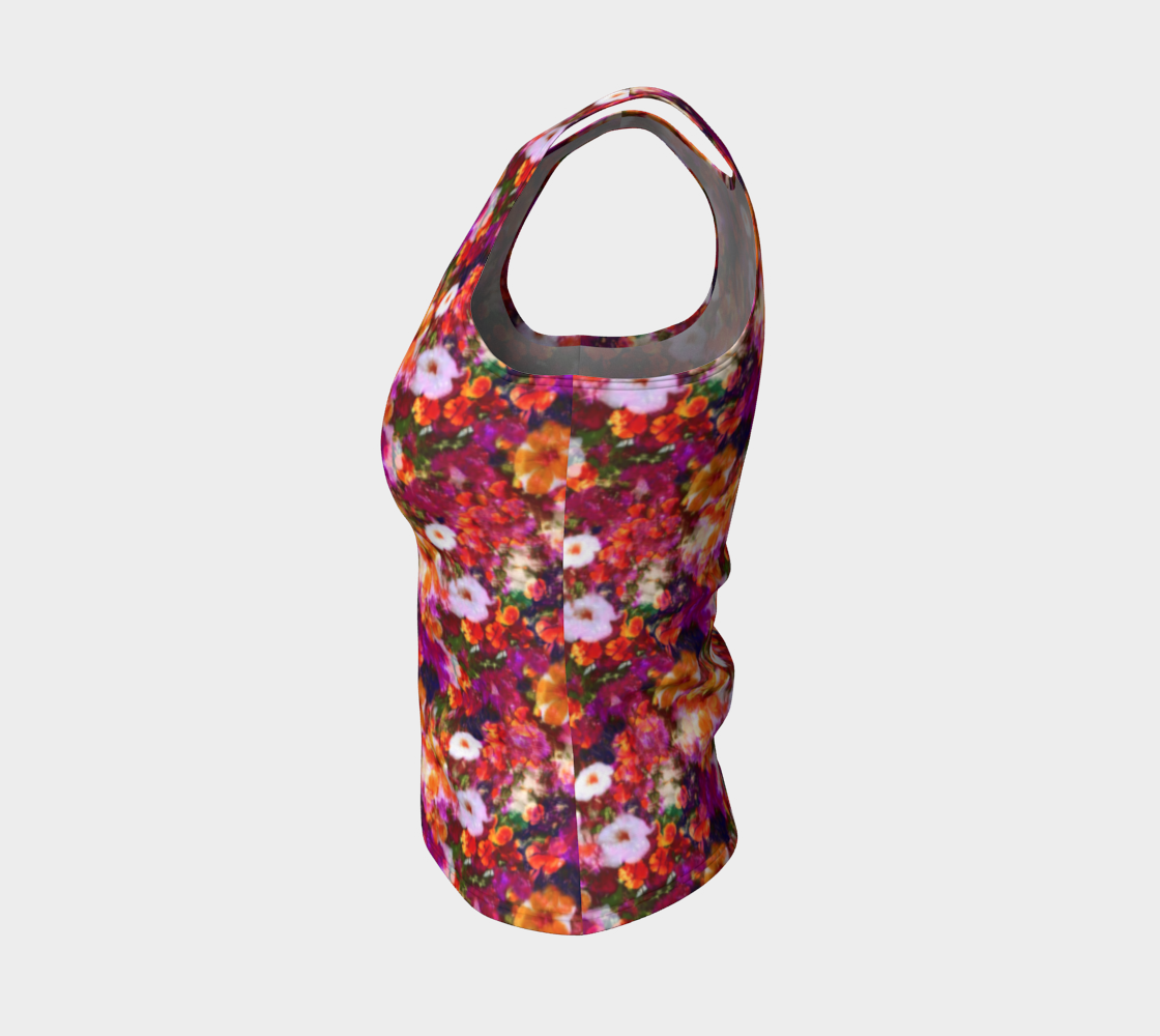 Illuminated Floral Fitted Tank Top/Regular Length Fitted Tank Top (Regular)  Roxie Rudolph Roxie Rudolph Roxie Rudolph