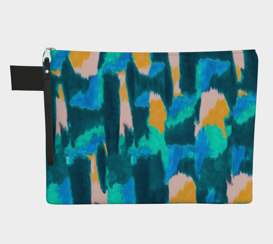 Watercolor Abstract Zippered Pouch Zipper Carry-all  Roxie Rudolph Roxie Rudolph Roxie Rudolph
