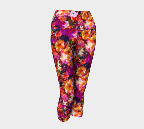 Illuminated Floral Yoga Capris