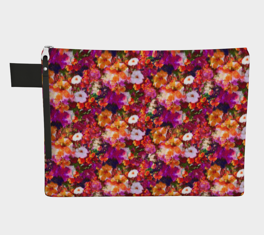 Illuminated Floral Zippered Pouch Zipper Carry-all  Roxie Rudolph Roxie Rudolph Roxie Rudolph
