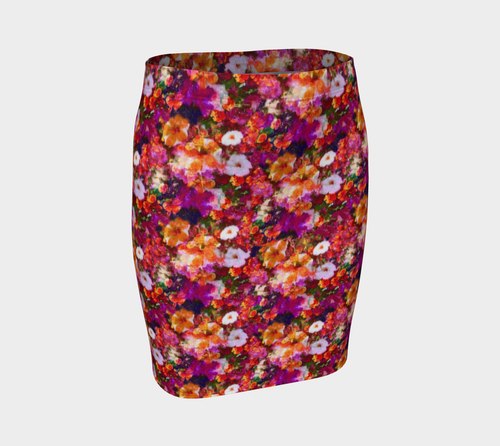 Illuminated Floral Fitted Skirt