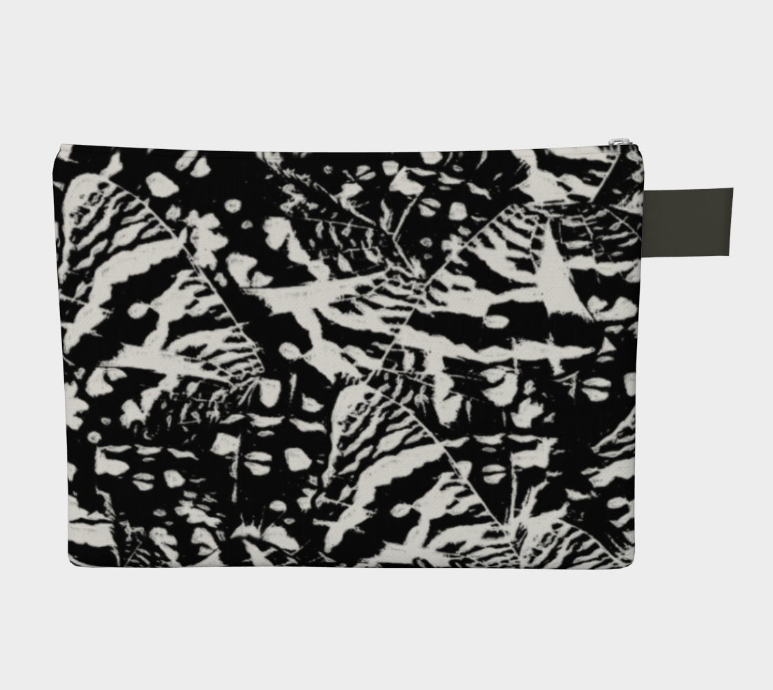 Ink Blot Butterfly Zippered Pouch Zipper Carry-all  Roxie Rudolph Roxie Rudolph Roxie Rudolph