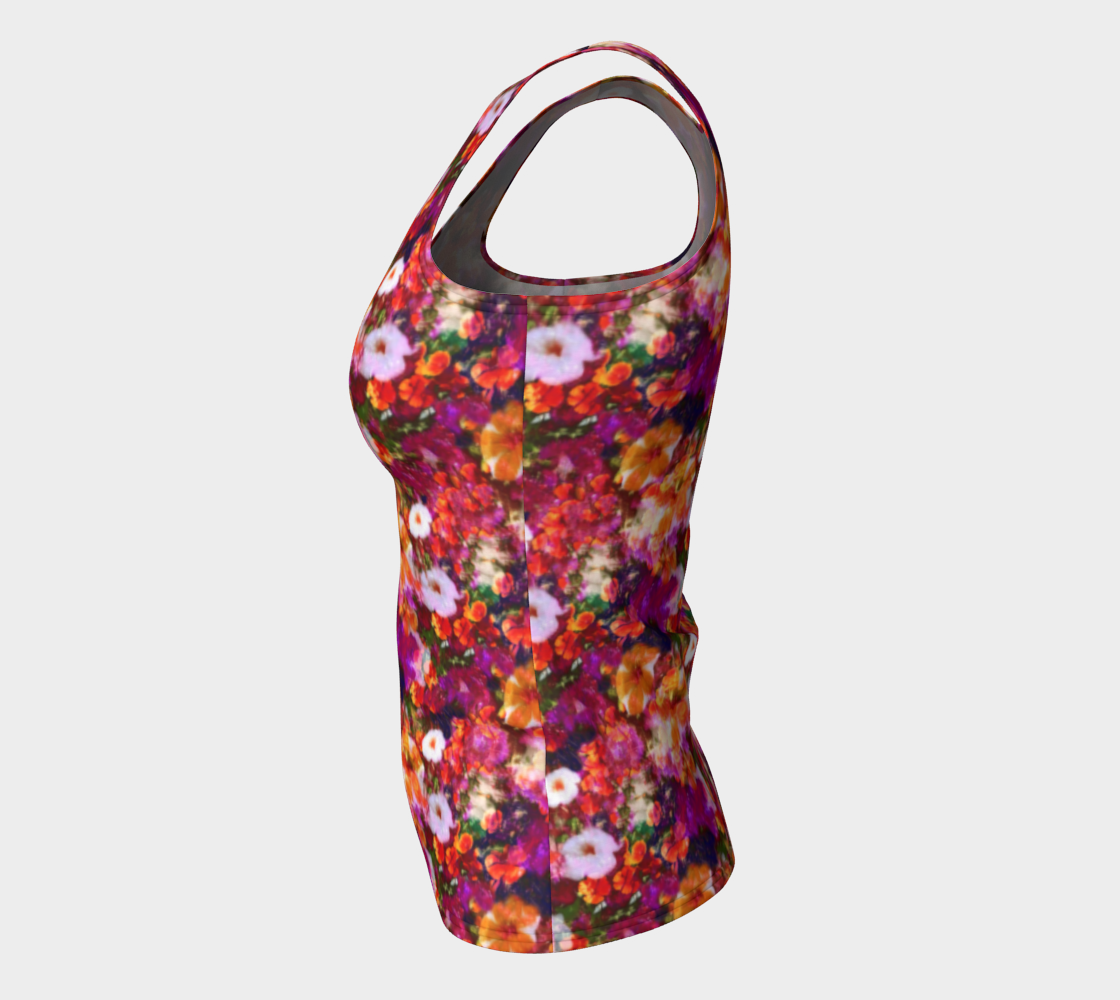 Illuminated Floral Fitted Tank Top/Long Length Fitted Tank Top (Long)  Roxie Rudolph Roxie Rudolph Roxie Rudolph