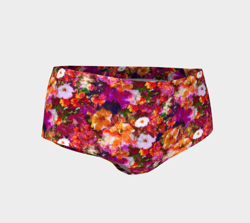 Illuminated Floral Mini Shorts