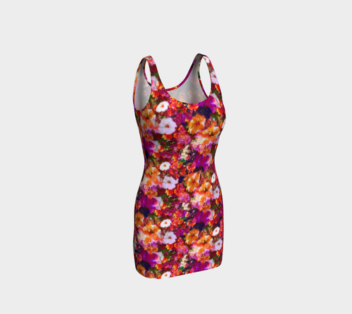 Illuminated Floral Bodycon Dress