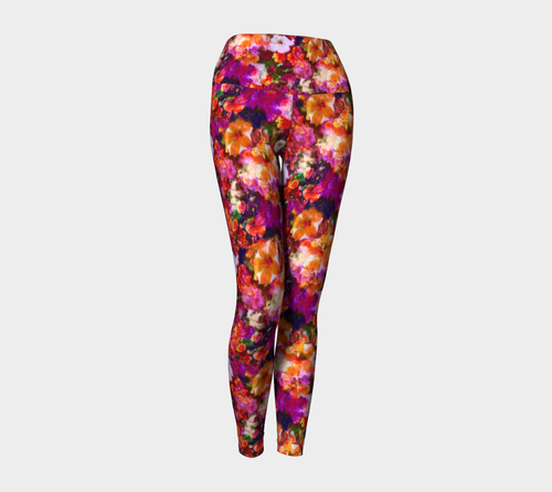 Illuminated Floral Yoga Leggings