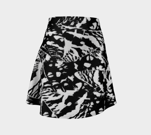 Ink Blot Butterfly Flare Skirt