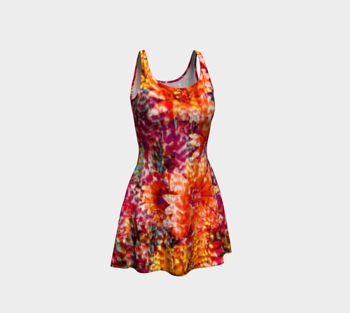 Ambient Floral Flare Dress