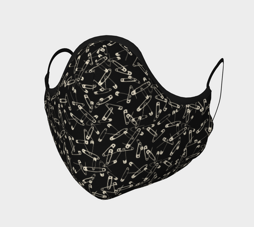 Safety Pin Face Mask with filter pocket and optional filters