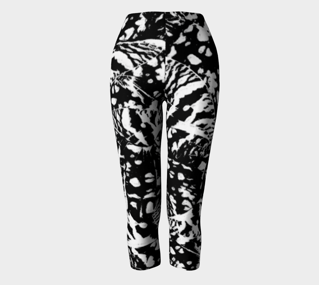 Ink Blot Butterfly Capris