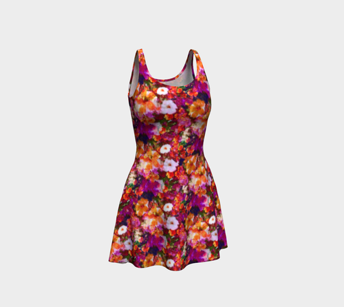 Illuminated Floral Flare Dress