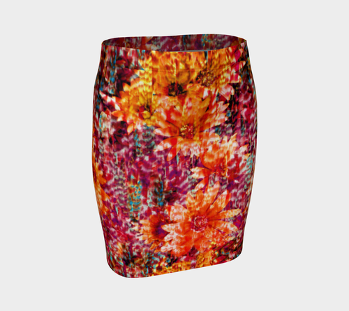 Ambient Floral Fitted Skirt