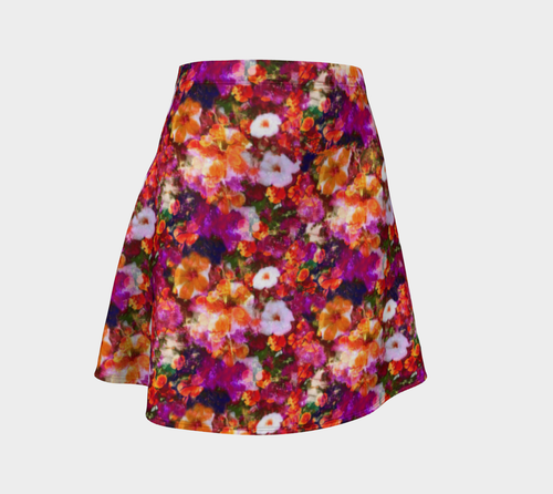 Illuminated Floral Flare Skirt