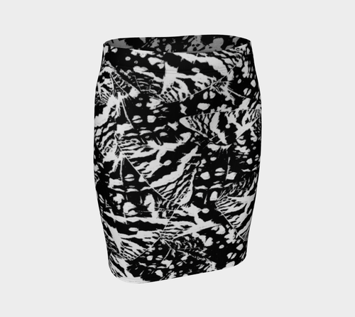 Ink Blot Fitted Skirt