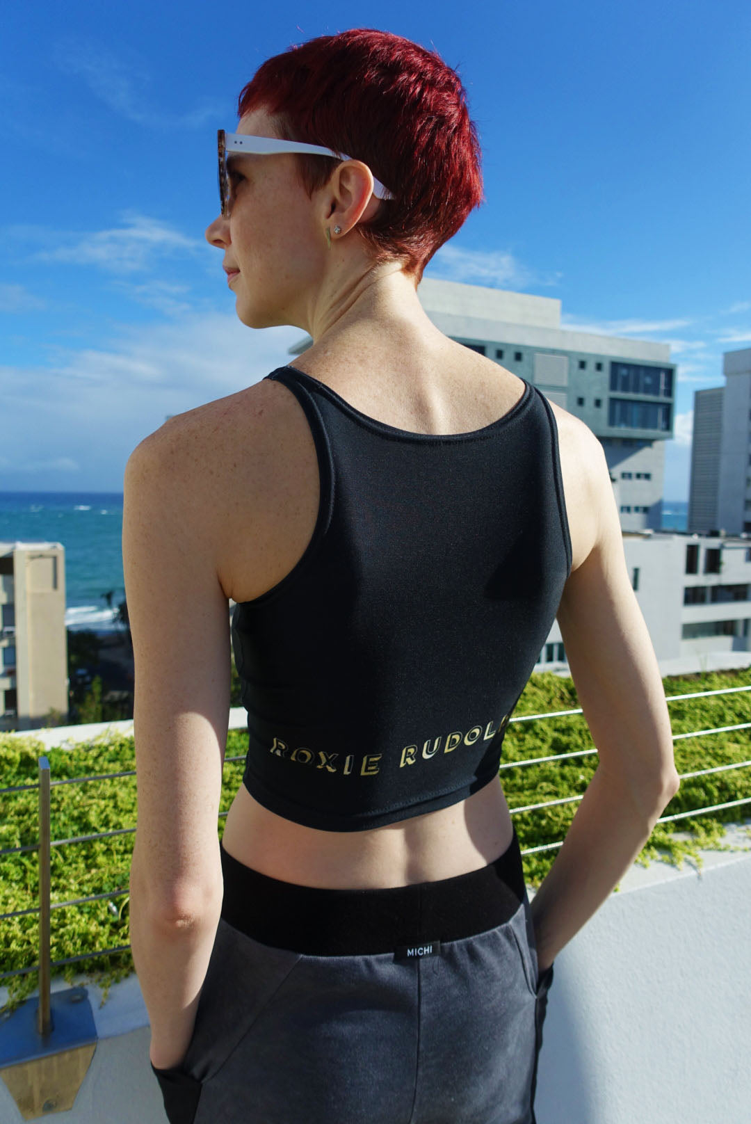 Gold Roxie Rudolph Logo Athletic Tank Athletic Crop Top  Roxie Rudolph Roxie Rudolph Roxie Rudolph