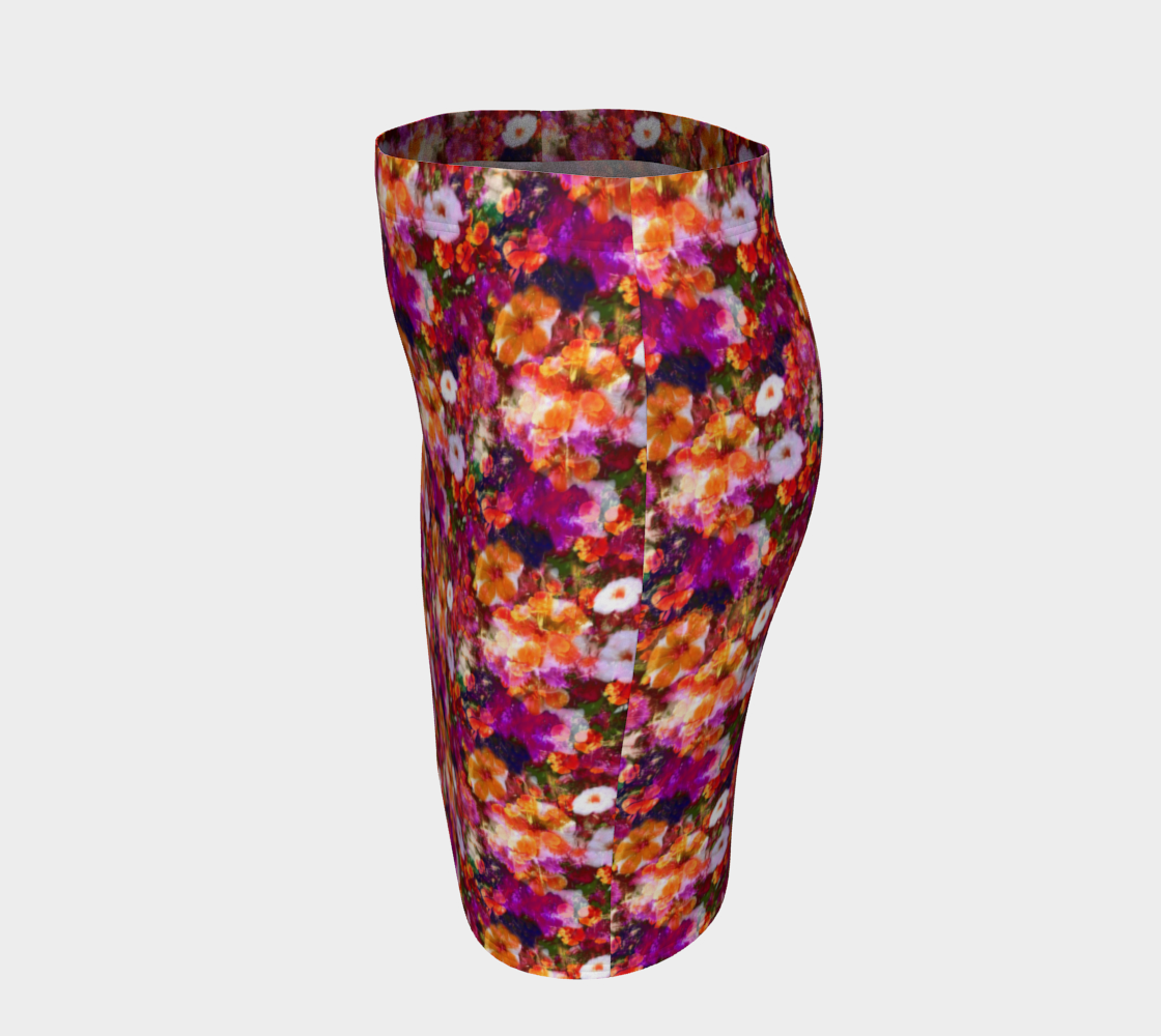 Illuminated Floral Fitted Skirt Fitted Skirt  Roxie Rudolph Roxie Rudolph Roxie Rudolph