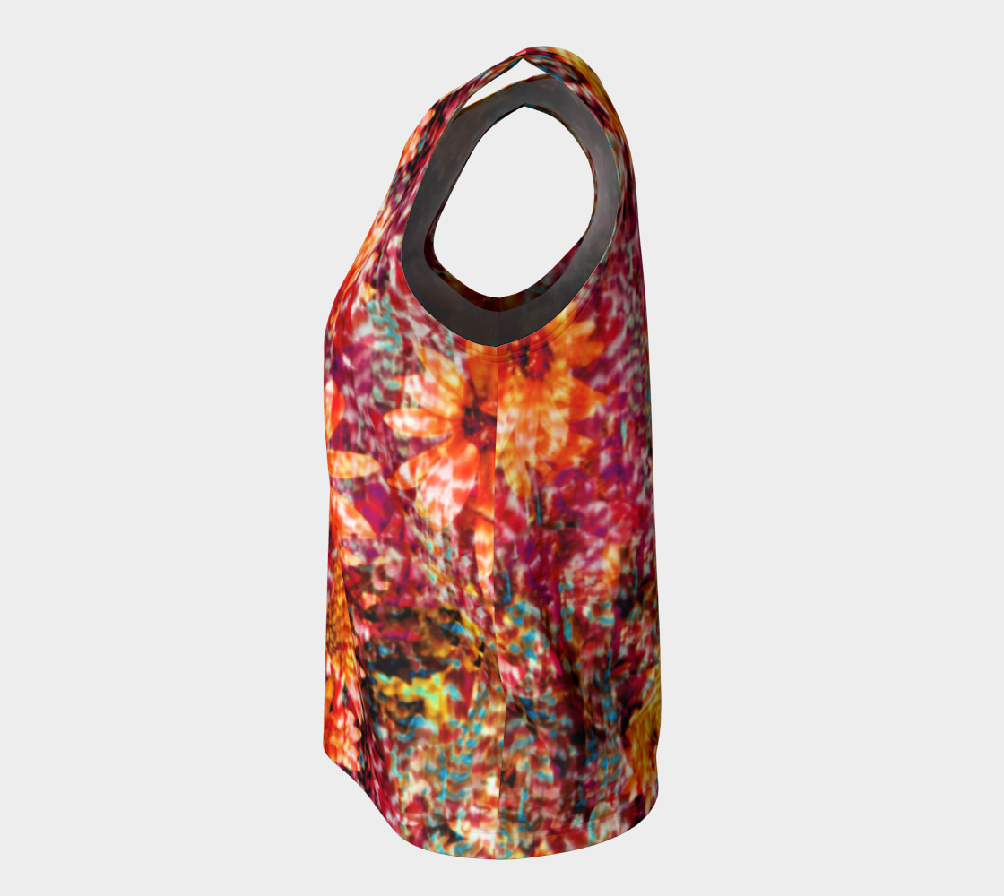 Ambient Floral Loose Tank Top/Long Length Loose Tank Top (Long)  Roxie Rudolph Roxie Rudolph Roxie Rudolph