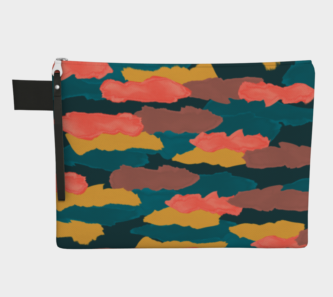 Camo Clouds Zippered Pouch Zipper Carry-all  Roxie Rudolph Roxie Rudolph Roxie Rudolph