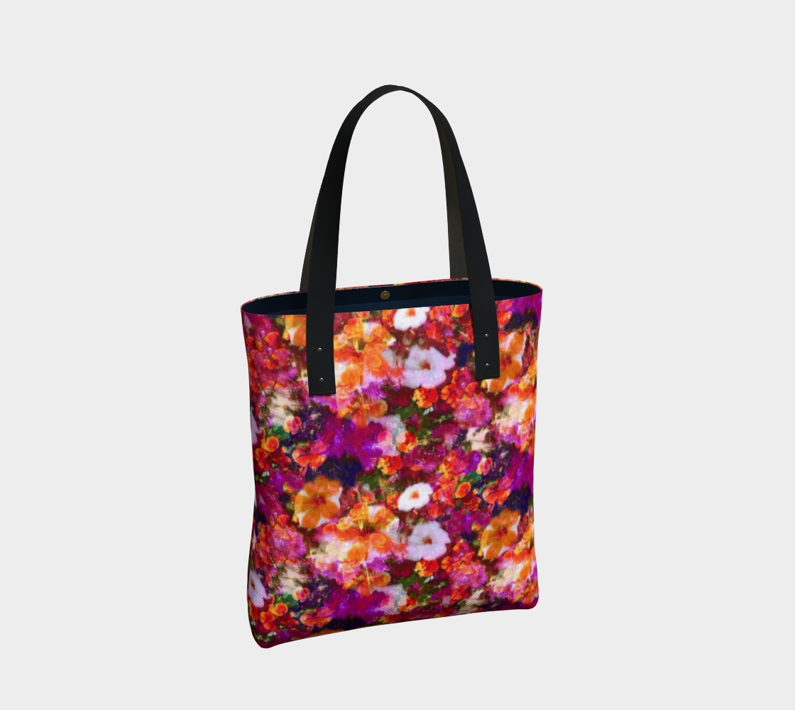 Illuminated Floral Urban Tote Tote Bag  Roxie Rudolph Roxie Rudolph Roxie Rudolph