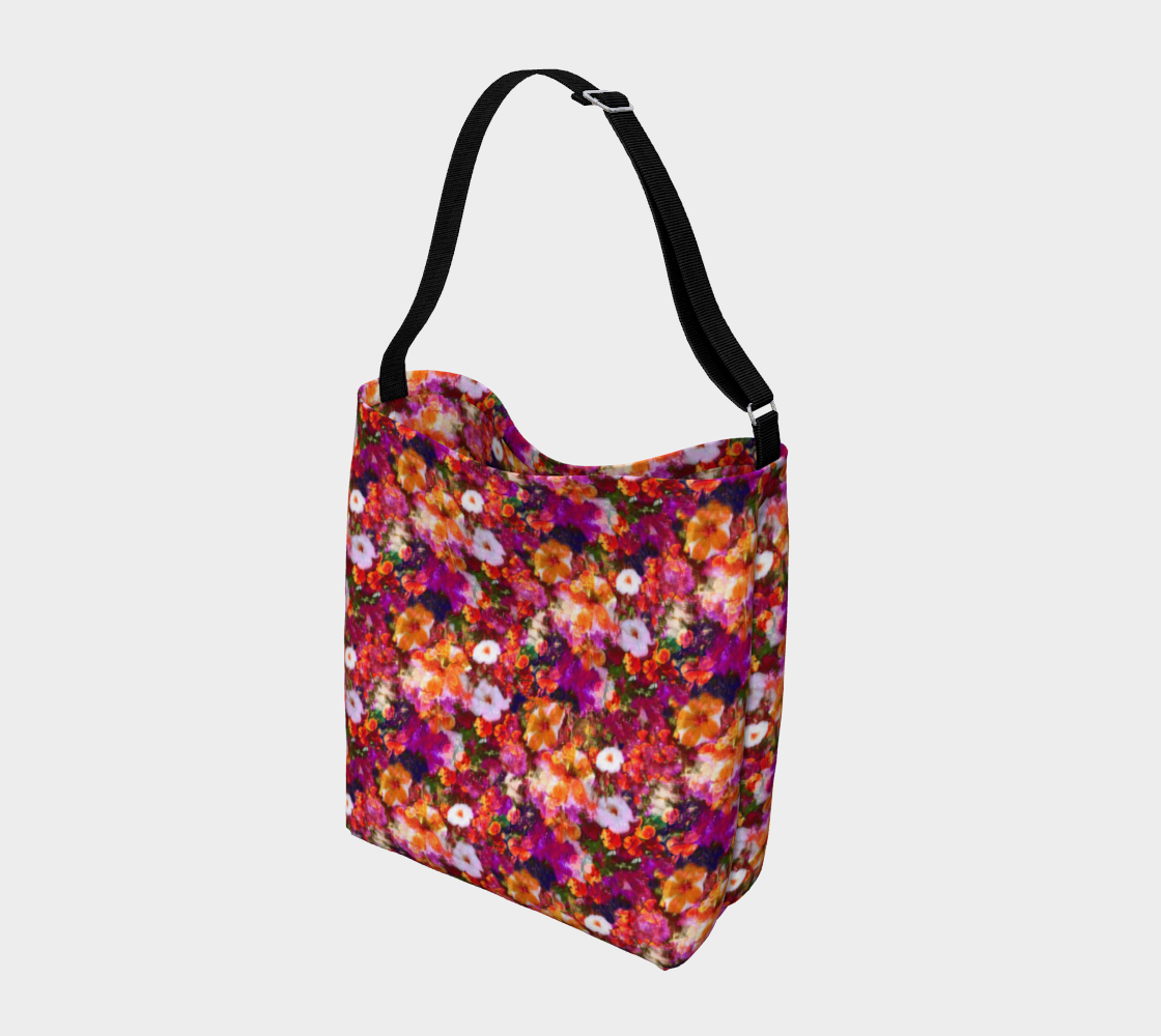 Illuminated Floral Stretchy Tote Day Tote  Roxie Rudolph Roxie Rudolph Roxie Rudolph