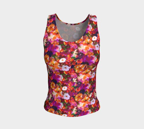 Illuminated Floral Fitted Tank Top/Regular Length