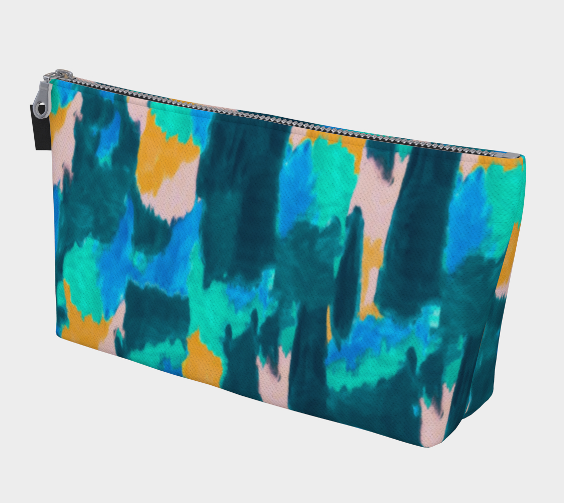 Watercolor Abstract Makeup Bag Makeup Bag  Roxie Rudolph Roxie Rudolph Roxie Rudolph