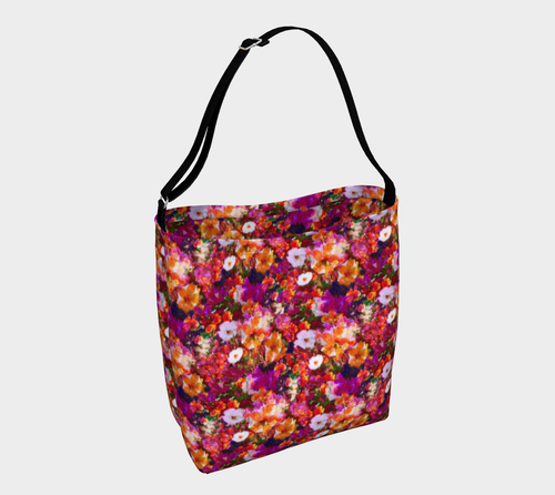 Illuminated Floral Stretchy Tote