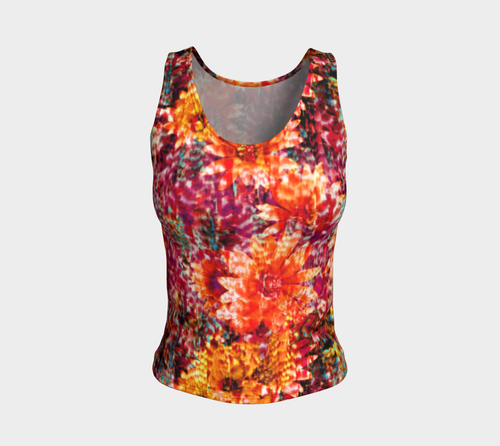 Ambient Floral Fitted Tank Top/Regular Length